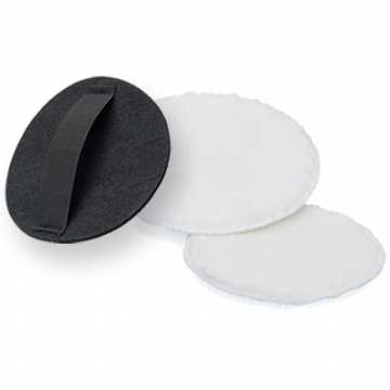 Hand applicator @ Microfibre buffing Pad 125mm diameter - velcro backed - machine or hand use